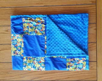 Quilted Pokemon with minky Backing