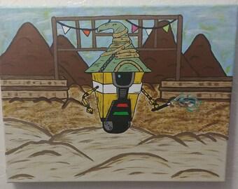 Borderlands Claptrap Painting - 11x14