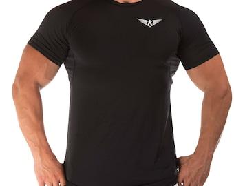 FIT ARMY Mesh Black T-Shirt / Top