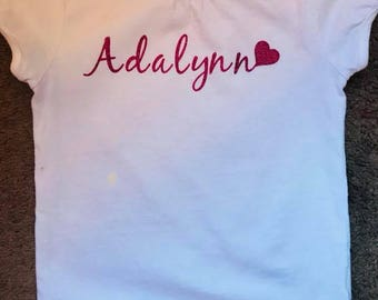Personalized Toddler TShirt-any name