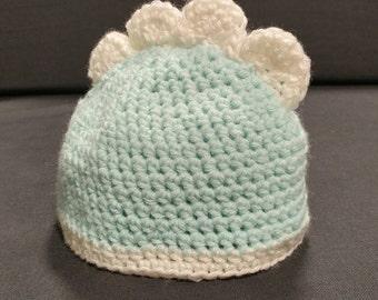 Crochet Dinosaur Baby Hat