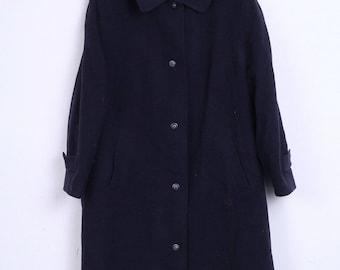 Vintage Womens 24 3XL Coat Navy Single Breasted Wool Navy