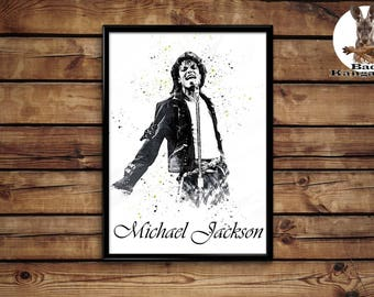 Michael Jackon Print  wall art home decor poster