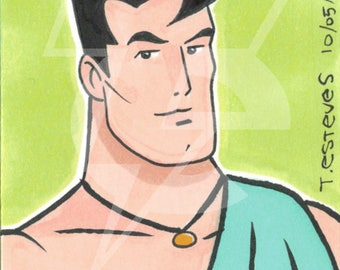 Hercules Original Sketch Card