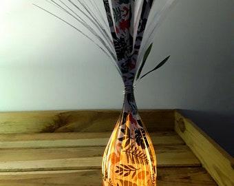 Nightlight ostrich and leaf paper