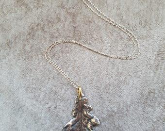 Silver Oak Leaf Neclace