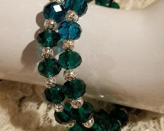 Stunning Emerald & Silver Wrap