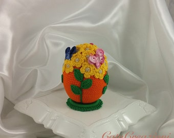 Hand decorated Easter egg