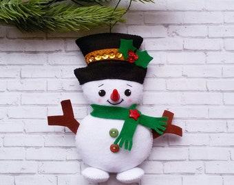 Christmas Ornaments felt Snowman ornament Christmas decorations ornament felt Christmas Tree ornaments cute Snowman Christmas gifts