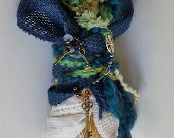 Moonstruck Solstice, Goddess Danu, Spirit Art Doll, Danu, Celtic Goddess, Divine Feminine, Ethnic Art, ooak Art Doll, wedding gift