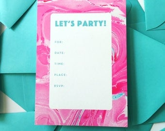 Pink swirl Invitations