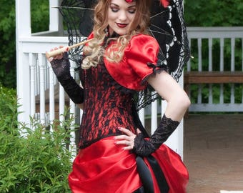 Lovely in Lace - Victorian Steampunk Corset Gown - Made to Order