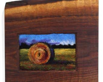 Vibrant Hay Bale in Walnut