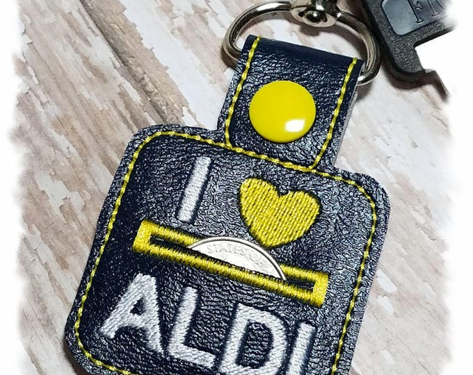 Aldi Quarter Keeper, Quarter Holder Keychain, Coin Holder, Key Fob Holder, Quarter Pouch, Coin Pouch