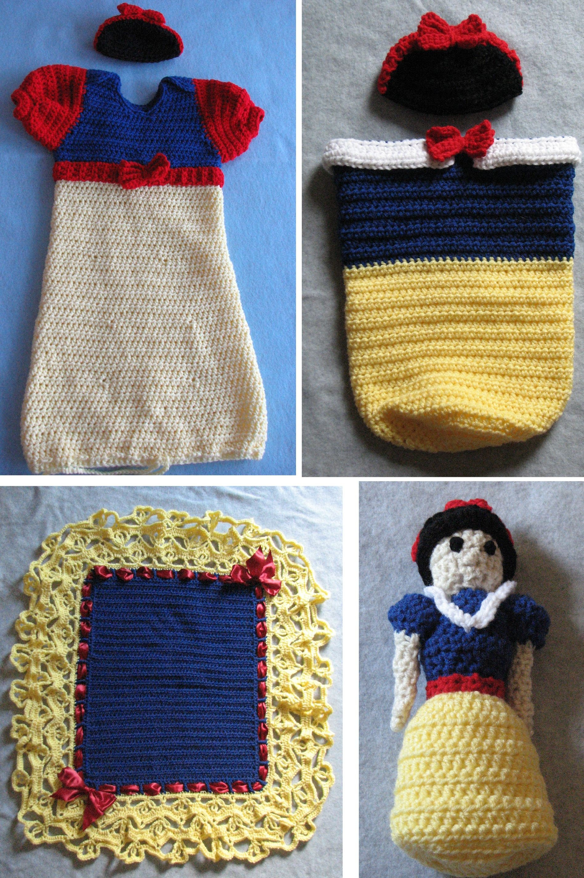 Discounted Pattern Set All Snow White Crochet Pattern