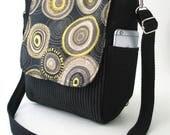 crossbody handbag, black bag, womens backpack purse converts to messenger bag, sling bag, shoulder bag, zipper bag, fits Ipad, ready to ship