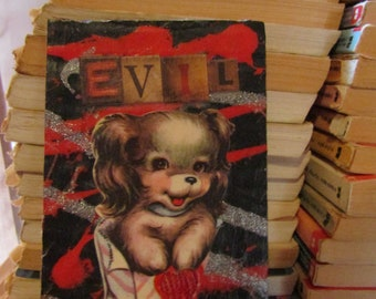 Evil Pup {Original Collage}
