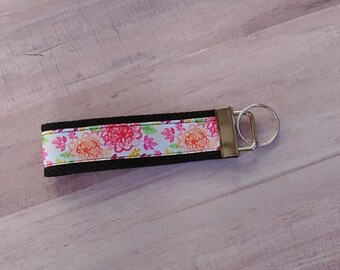 Summer Flowers Key Fob//Gift