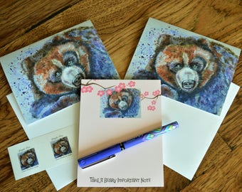Grizzly Bear, Stationery Set, Bear Notepad, Bear Cards, Bear Blank Cards, Bear Watercolor, Artist Made, Bear Painting, Bear Stationery, Bear