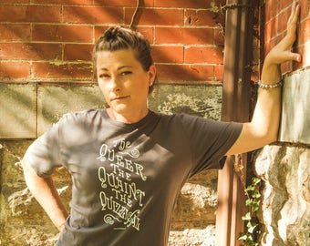 Unisex | The Queer, The Quaint, The Quizzical | Victorian Typography T-Shirt