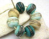 Secret Beach Organic Rounds - Handmade Glass Lampwork Beads