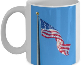 Mug with American Flag for 4th of July or any time of year