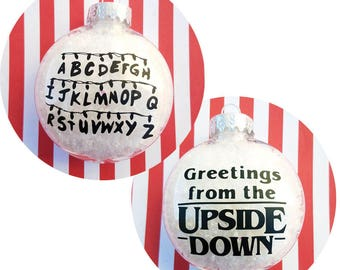 STRANGER THINGS Christmas Ornament Greetings from The Upside Down