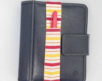 Stripe Theme Pretty Pen Pocket Planner Band Pen Holder