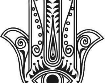 RESERVED for Michael ... made to order leather Hamsa mask