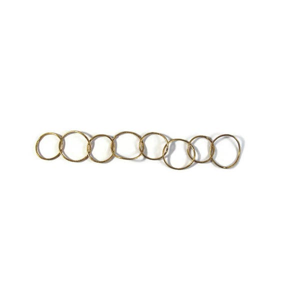 Large Gold Brass Chain, 5 Inches, Big Circle Link Chain, Great for Earrings, Necklaces, Jewelry Supplies (L-Mix21a)