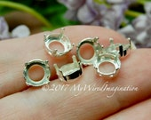 6 pcs Silver or Gold Plat...
