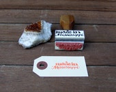 Made in Mississippi Rubber Stamp, Calligraphy Stamp, Wedding Favor Stamp, Hand Lettered State Stamp, Custom Packaging