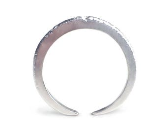 Crescent Ring - Silver Adjustable Ring - Organic Ring - Sparkly Ring - Stackable Ring - Gifts Under 35 - Andyshouse - Made In Brooklyn