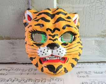 Vintage Child's Tiger Halloween Mask