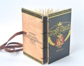 Dark Grey Hand Bound Cigar Box Journal, Don Tomas Reclaimed Cigar Box Book in Dark Grey, Black & Gold