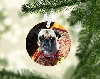 Photo Christmas Ornament - Dog Lover Ornament - Custom Christmas Ornament - Picture Ornament - Personalized Ornament - Pet Picture Ornament