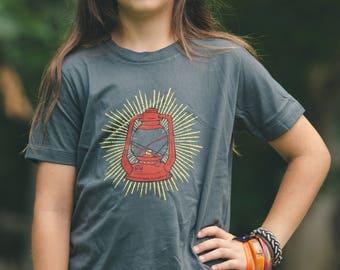 Lantern tee kids shirt toddler t-shirt charcoal grey explore outdoors