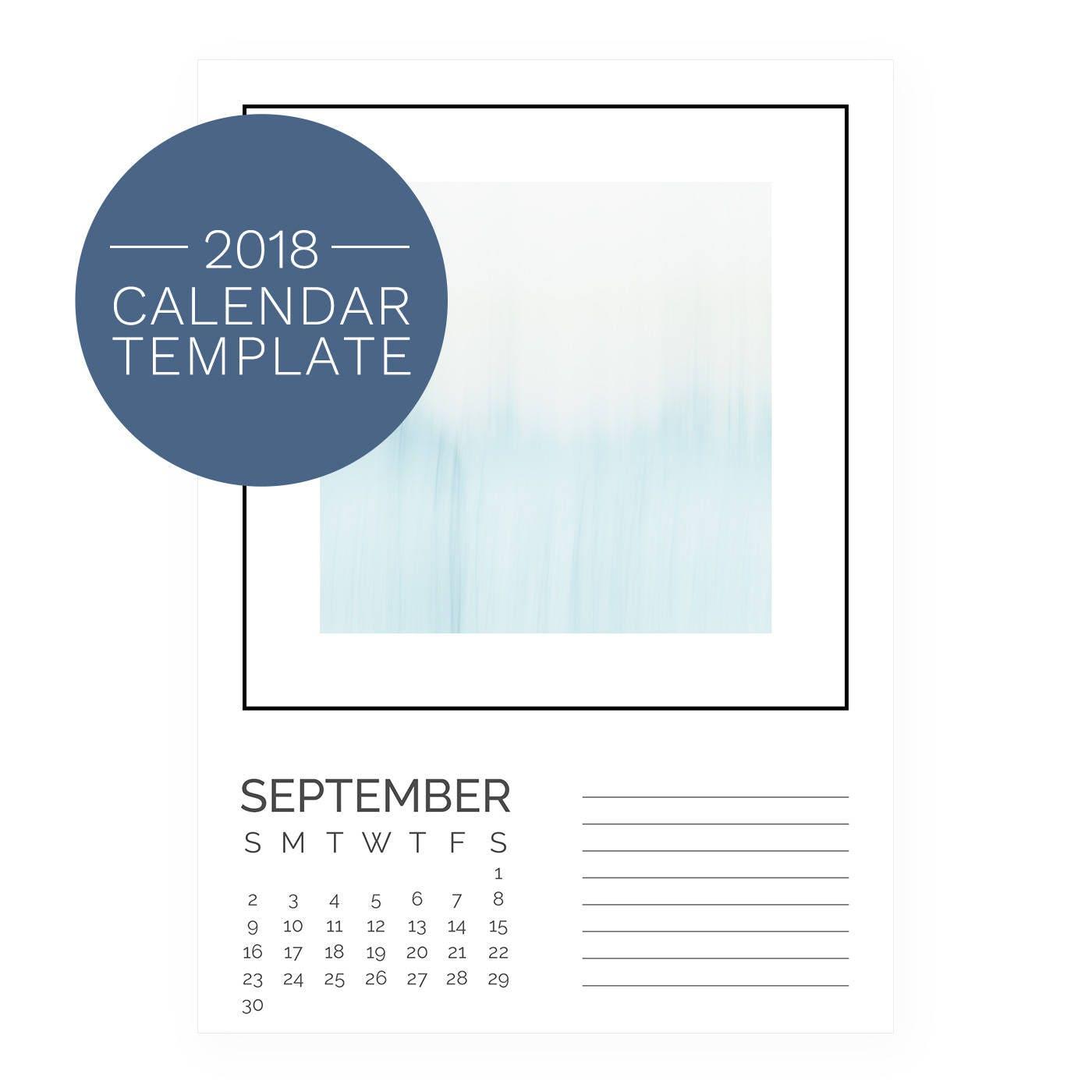 Calendar Template 2018 Desk Calendar 2018 Calendar
