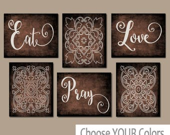 EAT PRAY LOVE Kitchen Wall Art   Kitchen Canvas Or Prints   Dinning Room  Decor