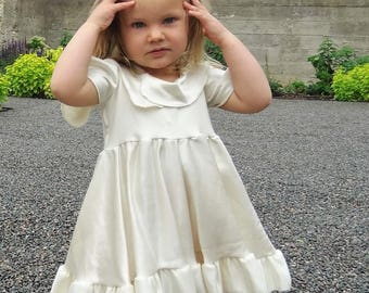 Fancy Silk Girls Dress - Custom Made for sizes 6 months to Junior - Perfect for Special Occasions, Pictures, First Communion, Baptism