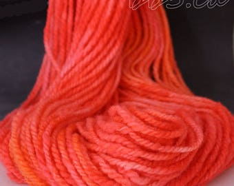 Corriedale Yarn Handspun Yarn Soft Coral