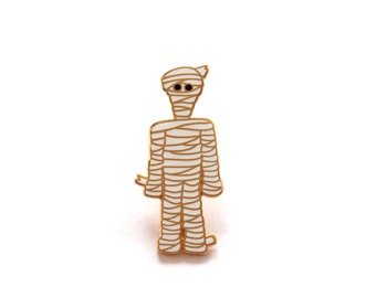 Mummy Pin Badge, Spooky Pin, Hard Enamel Pins, Lapel Pin, Enamel Pin Badge, Rock Cakes, Brighton, uk