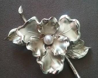 Brooch, Vintage Brooch, Vintage Flower Brooch, Fashion Brooch, Fashion Flower Brooch