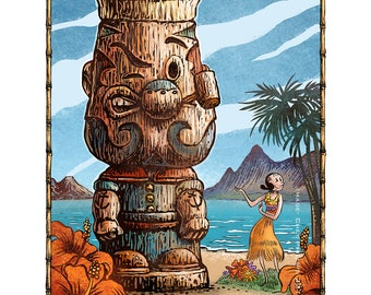 South Seas Popeye- Limited Edition Signed Print