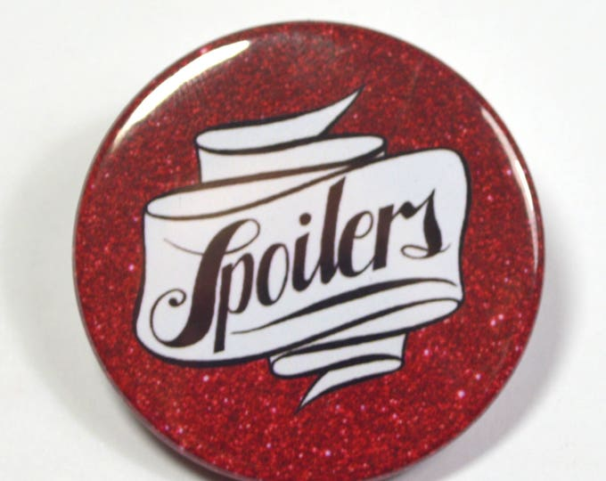 "Dr.Who Doctor Who River Song ""Spoilers"" Pinback Button Badge"