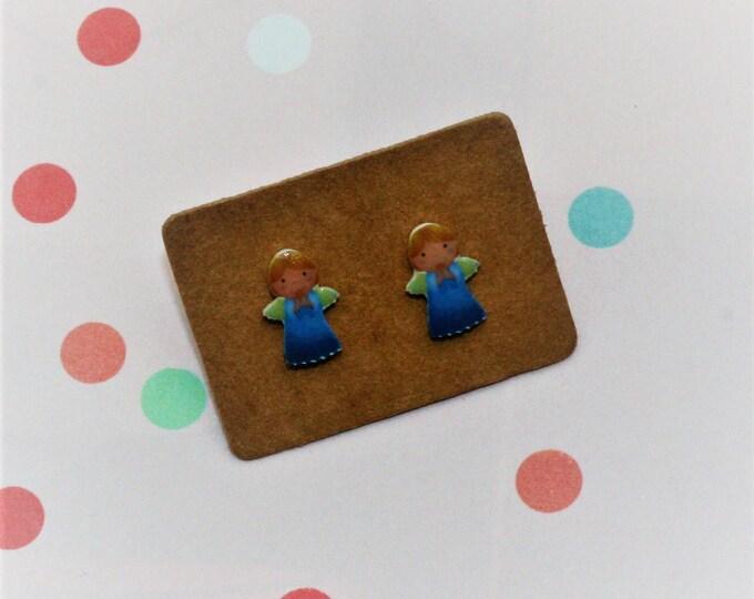Angel Earrings, Teeny Tiny Earrings, Fairy Jewelry, Cute Earrings