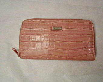 Pink non-leather wallet, cards and change women wallet, ladies wallet clutch