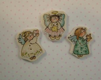 Angel Buttons set of 3