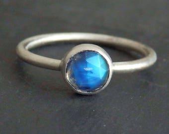 Moonstone ring / rainbow moonstone jewelry / June birthstone / rose cut moonstone / rainbow moonstone / ready to ship / moon jewelry