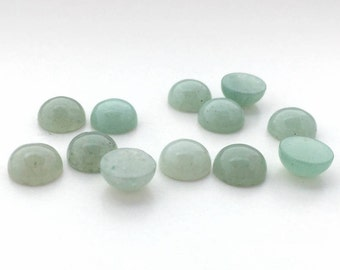 12 Pieces Natural Aventurine Stone Cabochons-8mm (08AVEN) (B-5-9)